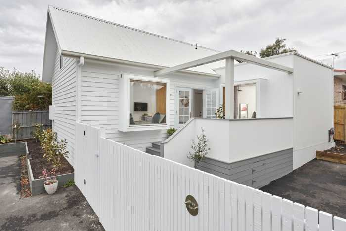 White picket fence to self contained modular unit