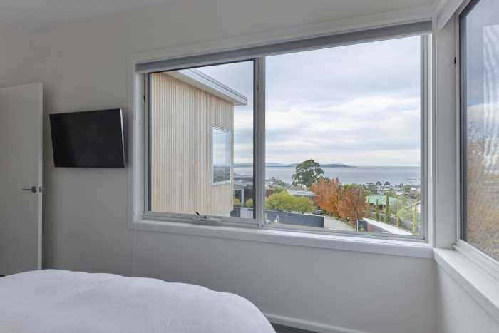 master bed with views