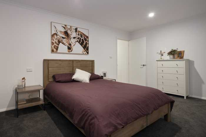 Master bedroom in new home in deloraine