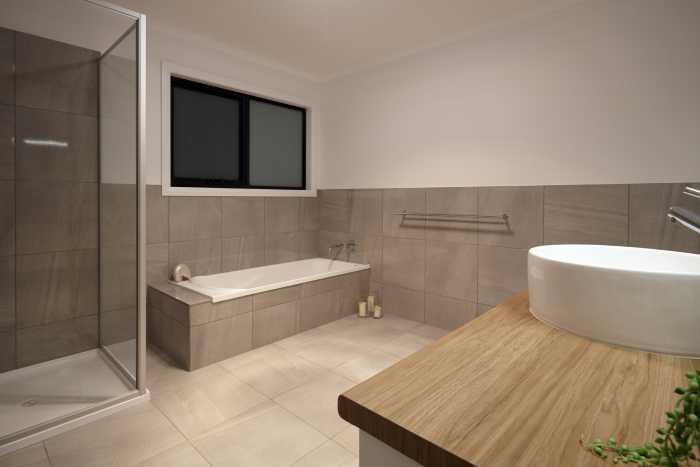 Modern bathroom in deloraine