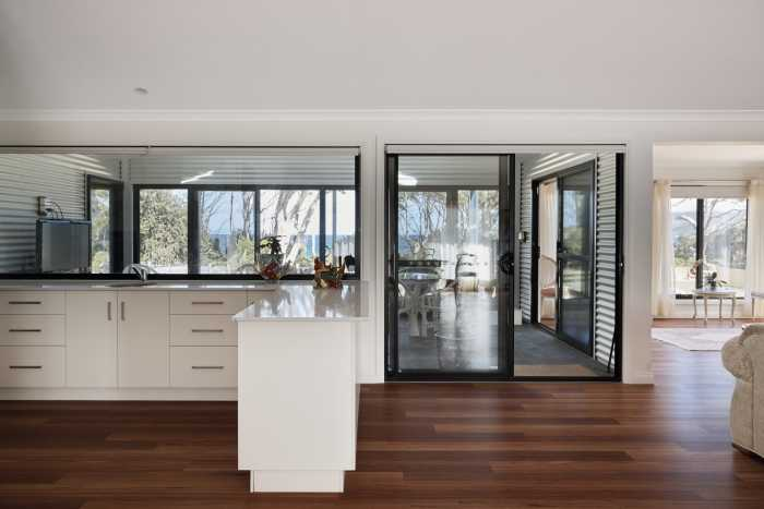 Double glazed windows with open plan living