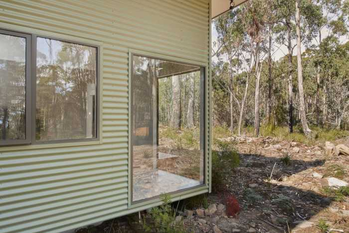 Large Double Glazed Windows on Transportable Home