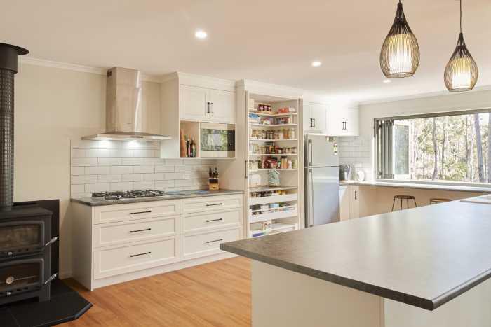 Large White Kitchen with Laminex Benchtops