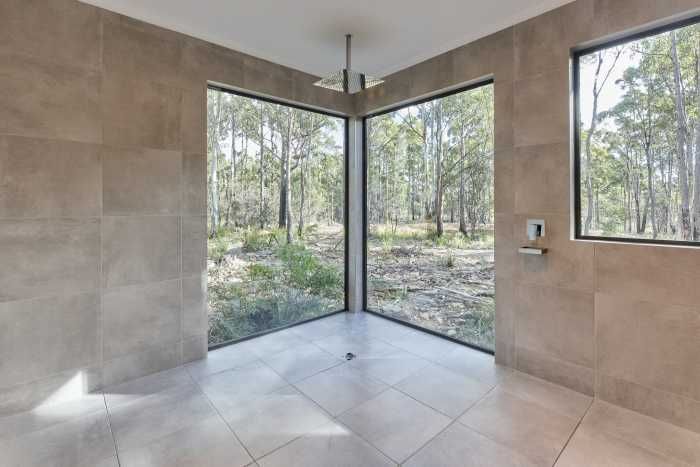 Large Windows in Shower of Modern Home