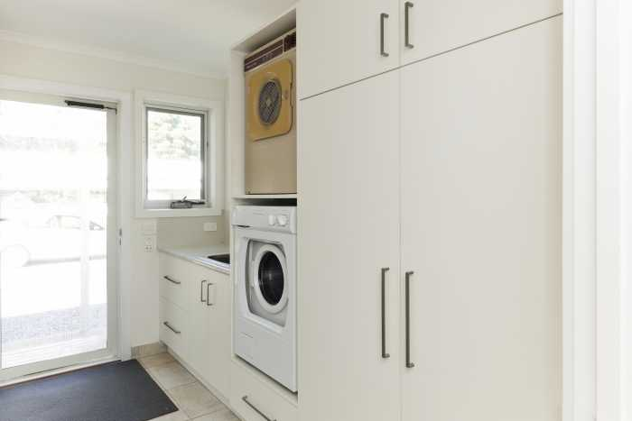 Large Laundry with Cabinetry in Transportable Home