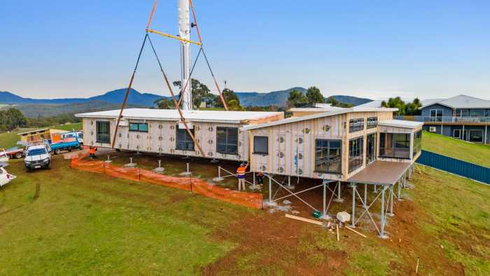 3 section modular home with high grade insulation