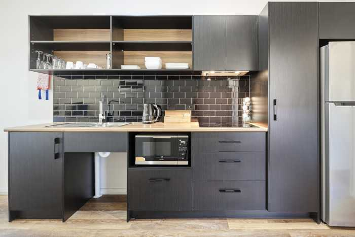 Black Kitchenette