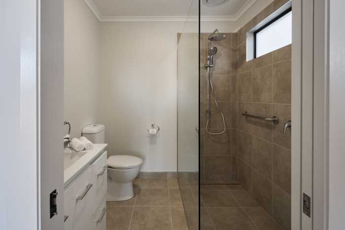 Tassie Build Expo Display Home Ensuite with walk in shower