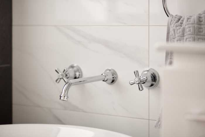 Bathroom taps for freestanding bath in Tasbuilt Home