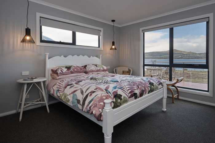 Master bedroom in new home near Hobart