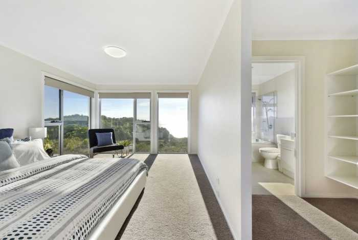 Spacious master bedroom and ensuite