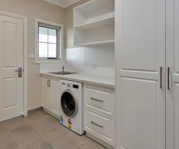Farmstyle laundry cupboards