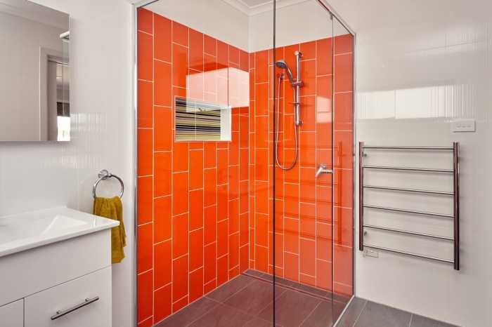 bright bathroom tiles in Scamander