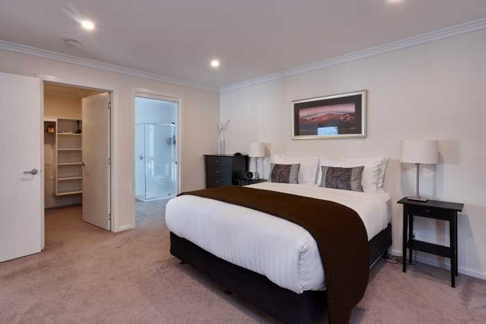 Generous bedroom design with ensuite near Hobart