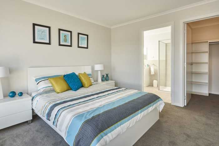 Master bedroom in display home near Launceston