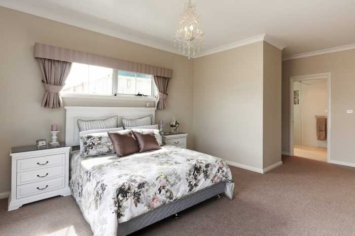 Westbury display home master bedroom