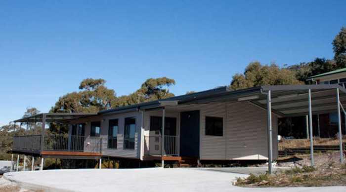 House on piers East Coast Tas