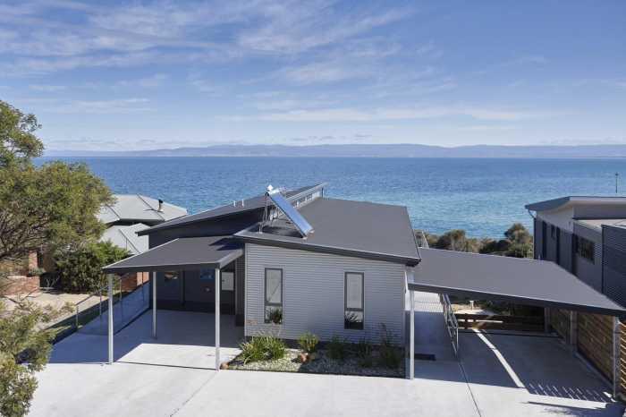 Modular home on sloping block East Coast Tasmania
