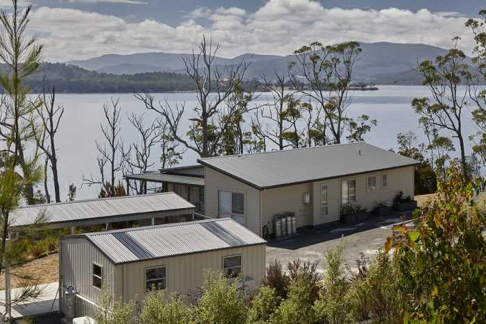 Modular home on sloping block in Southern Tasmania