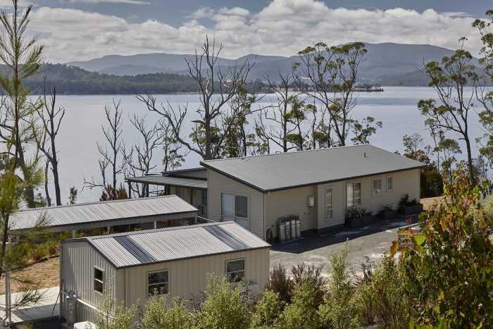 Modular home on sloping block in Southern Tasmania