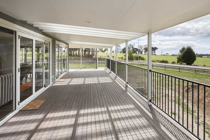 Verandah with views at Clarence P Oint