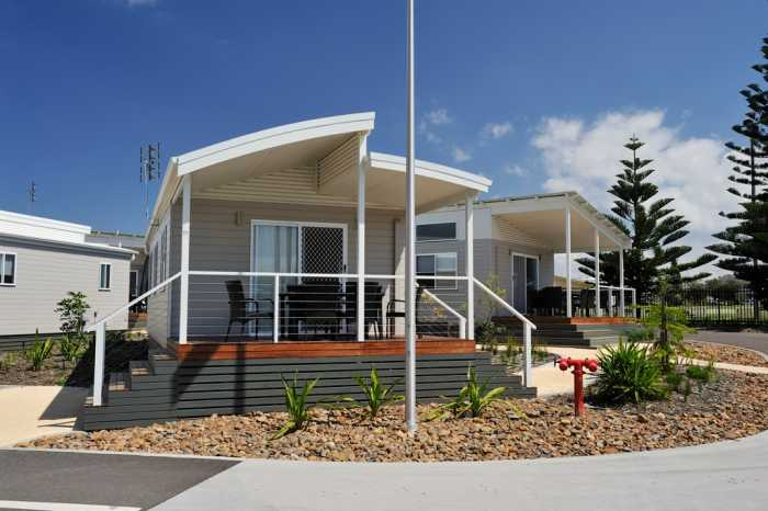 Holiday cabins with curved roof design Tasmania