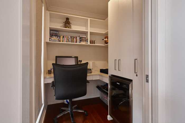 Clever home office nook in Brooks Bay, near Hobart