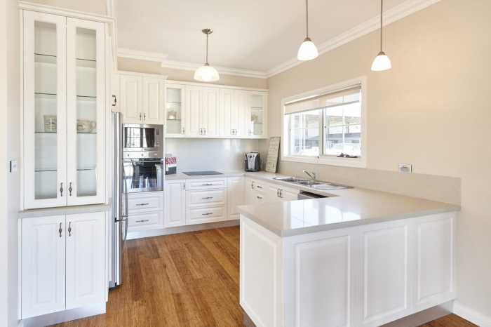 Country style kitchen in Westbury display home