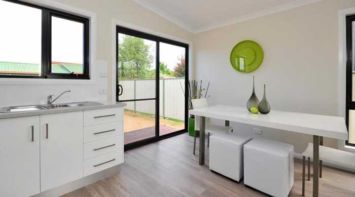 Modern white kitchen in Longford