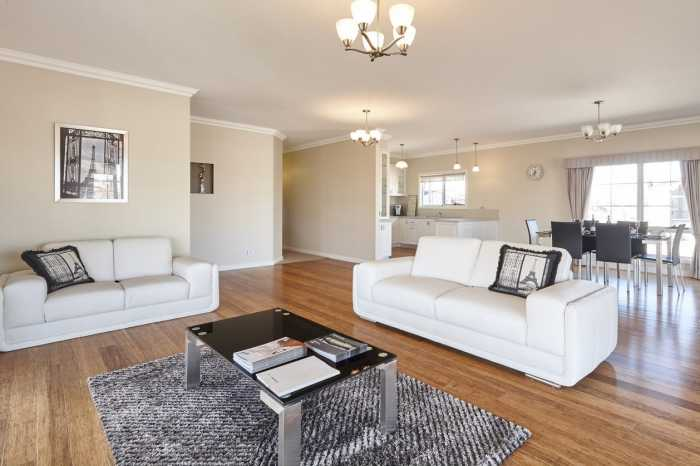Living area of Tasbuilt Sheridan Display Home in Westbury