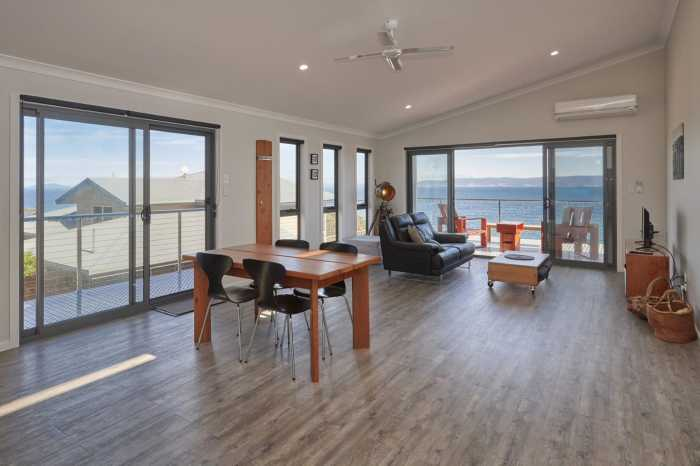 Modern beach unit with double glazed sliding doors