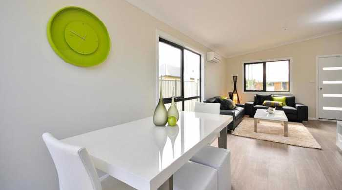 modern bright living room in longford