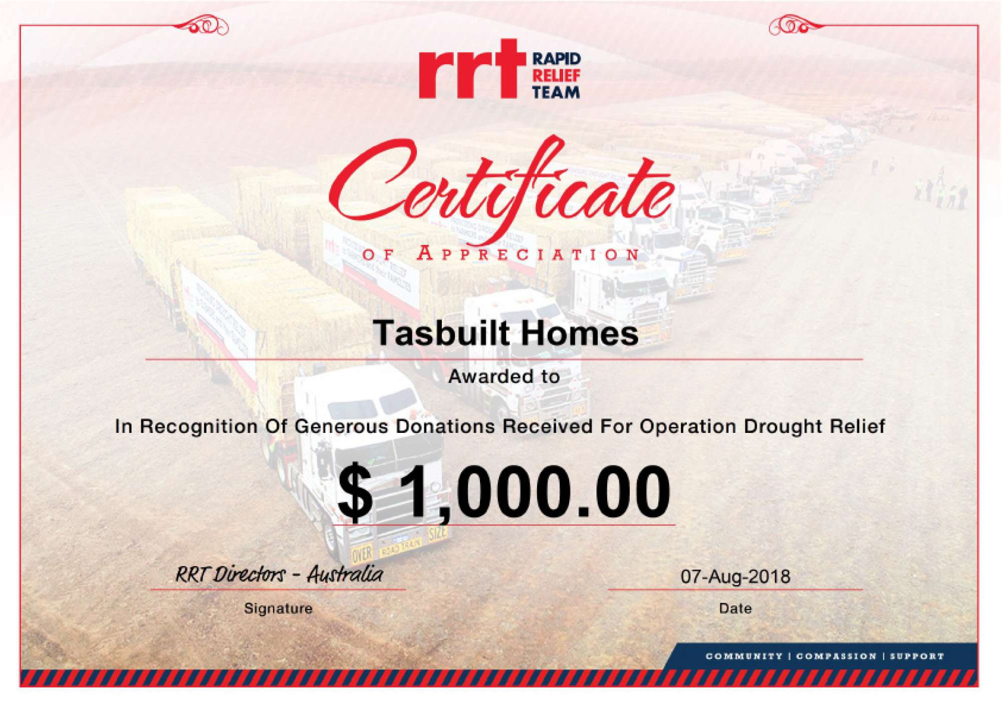 Rrt-drought-relief-certificate-tasbuilt-homes