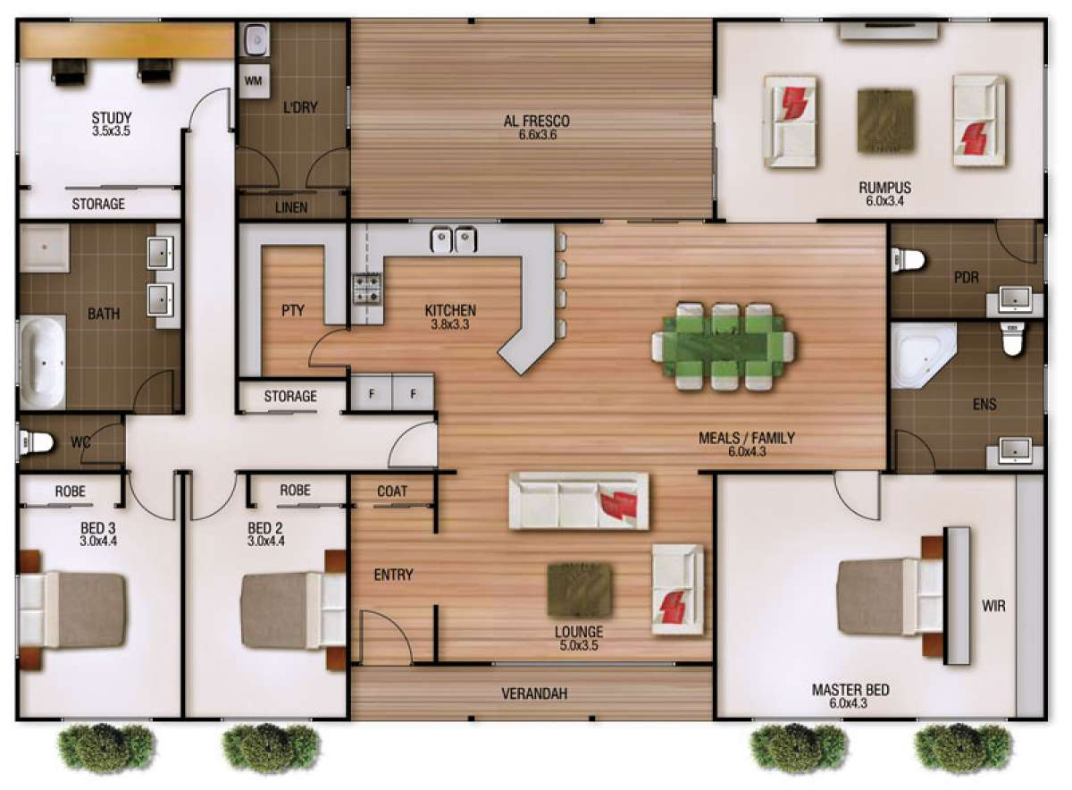 Clarendon Floor Plan